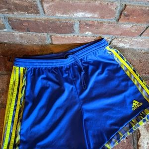 Adidas Neon Striped Climalite Running Shorts
